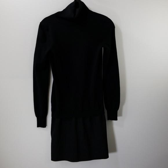 a5049793dfe Theory Dresses | Black Wool Turtleneck Sweater Dress Sp | Poshmark